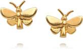 Alex Monroe 22-karat gold-plated butterfly stud earrings