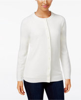 Karen Scott Luxsoft Crew-Neck Cardigan, Only at Macy's