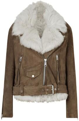 AllSaints Shearling Luna Biker Jacket