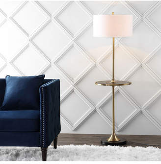 Jonathan Y Designs Luce Metal or Wood Led Floor Lamp with Table