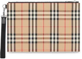 Burberry Vintage Check Cotton Zip Pouch