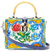 Dolce & Gabbana Embossed Floral-painted Box Bag - Womens - Multi