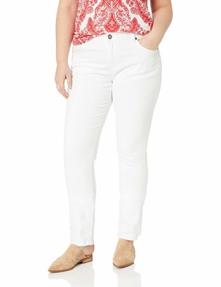 Cover Girl Women's Tall Plus Size mid Rise Classic 5 Pocket Skinny Jeans