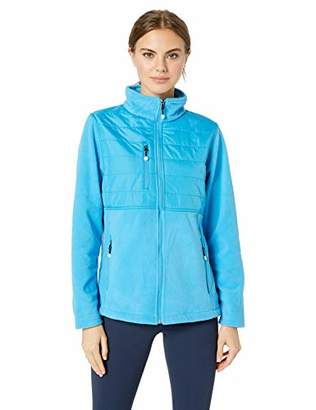 UltraClubs Women's Fleece Jacket with Quilted Yoke Overlay