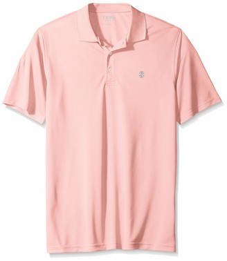 Izod Men's Big Golf Champion Grid Short Sleeve Solid Polo