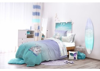 Hi By Hayley & Ivy The Little Mermaid Teal & Purple Ombre Bed in a Bag Bedding Set w/ Reversible Comforter