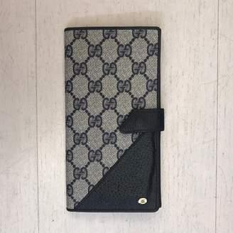 Gucci Grey Cloth Wallets