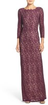 Adrianna Papell Women's Scalloped Lace Gown