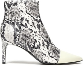 Rag & Bone Beha Smooth-trimmed Snake-effect Leather Ankle Boots
