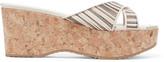 Jimmy Choo Metallic striped mesh sandals