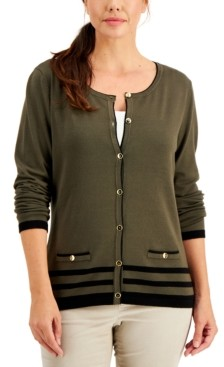 Karen Scott Plus Size Alexa Cardigan, Created for Macy's