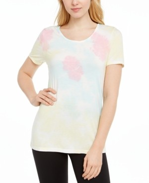 Ideology Tie-Dyed Lattice-Back Top, Created for Macy's