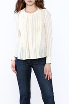 Love Sam Cream Pintuck Blouse