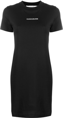 Calvin Klein Jeans embroidered logo T-shirt dress