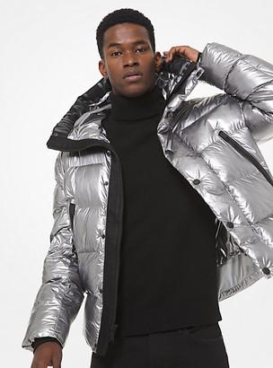 Michael Kors Metallic Cire Hooded Puffer Jacket