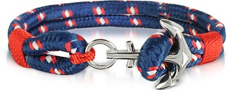 Forzieri Blue and Red Men's Rope Bracelet