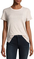 ATM Anthony Thomas Melillo Cotton Schoolboy Crewneck Tee, Blush
