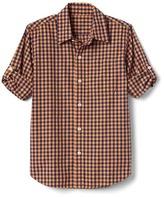 Gap Gingham poplin convertible shirt