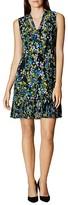 Karen Millen Floral Print Tie Neck Dress