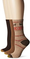 Gold Toe Women's Nordic Deer Winter Fashion Sock (Pack of 3)