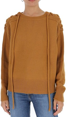 See by Chloe Lace Up Knitted Sweater