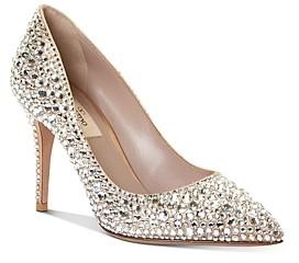 Valentino Women's Rhinestone High-Heel Pumps
