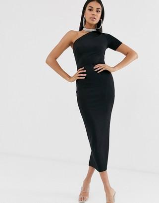 ASOS DESIGN one shoulder minimal bandage dress