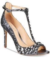 Jewel Badgley Mischka Conroy T-Strap Evening Sandals