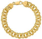 """QVC 14K Gold 7"""" Double Link Charm Bracelet, 22.8g"""