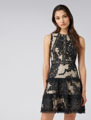 Forever New Sasha Sequin flip dress - Black - 4