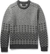 Beams Jacquard-Knit Shetland Wool Sweater