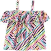 Crazy 8 Stripe Cold-Shoulder Top
