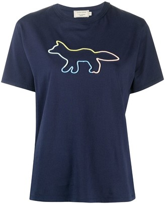 MAISON KITSUNÉ logo print round neck T-shirt