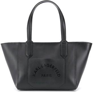Karl Lagerfeld Paris Logo Print Tote Bag