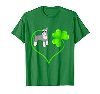 Mini A Ture St Patricks Day Miniature Schnauzer Dog Mom Shamrock Kids T-Shirt