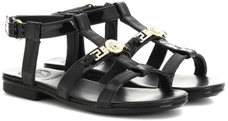 Versace Kids Patent leather sandals