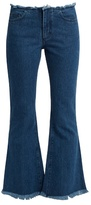 Marques Almeida MARQUES'ALMEIDA Capri frayed-edge flared cropped jeans