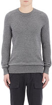 Helmut Lang MEN'S MIXED-KNIT SWEATER-GREY SIZE XL