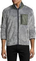 Hawke x Burkman Contrast-Trim Fleece Zip-Front Jacket