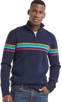 Gap Ski stripe half-zip mockneck sweater