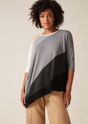 Phase Eight Arana Asymmetric Colourblock Knit Top