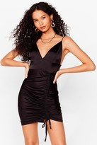 Nasty Gal Womens Heavens Touch Satin Dress - Black - 14, Black