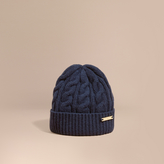 Burberry Cable Knit Wool Cashmere Beanie