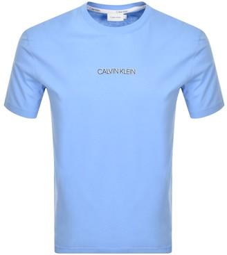 Calvin Klein Shadow Logo T Shirt Blue