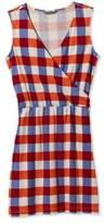L.L. Bean Signature Sleeveless Knit Dress, Check