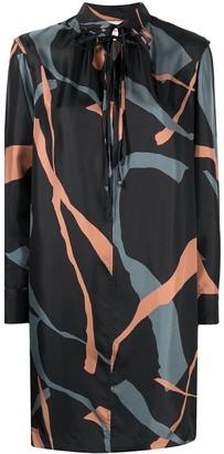 Alysi Printed Shirt Dress