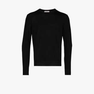 Canali Crew Neck Merino Wool Sweater