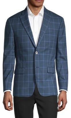 Robert Graham Windowpane Wool Silk Jacket