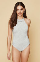 KENDALL + KYLIE Kendall & Kylie Embroidered Halter Bodysuit