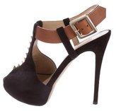 Valentino Suede Rockstud Sandals